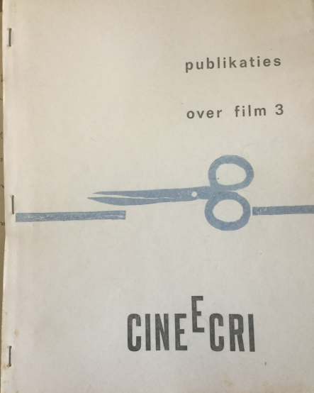 Original Ciné-Ecri publication by Robby Müller about the collaboration with directors